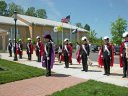 Honor Guard for Garden Statue Dedication - May 10, 2009